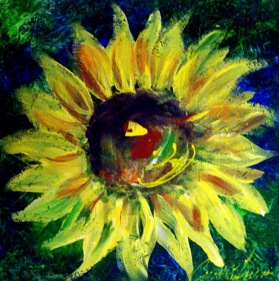 Sunflower Painting - Sunflower  by Cynthia Hudson