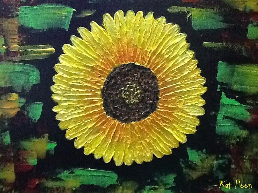 Sunflower Painting - Sunflower by Kat Poon