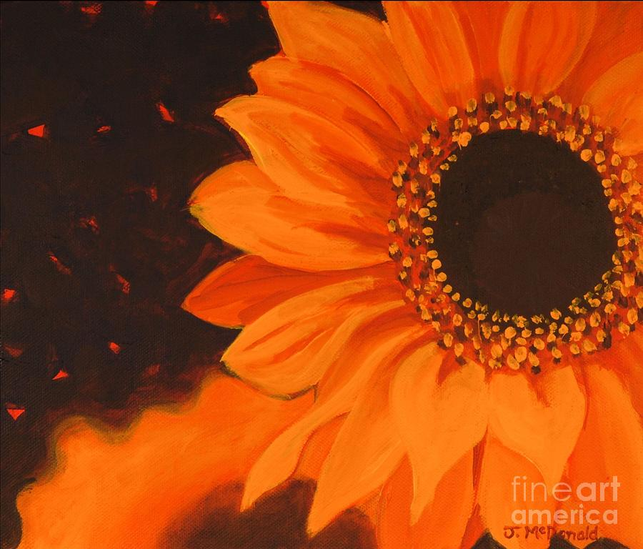Sunflowers Painting - Sunflower Mystique by Janet McDonald