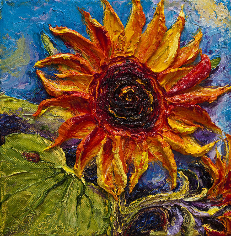 Oil On Canvas Painting - Sunflower by Paris Wyatt Llanso