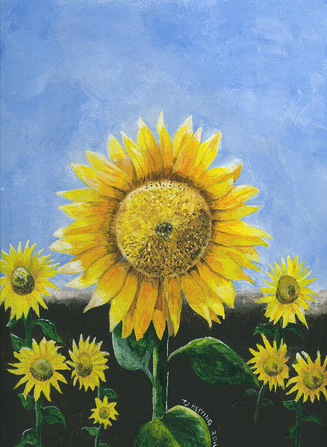 Sunflower Series One Painting