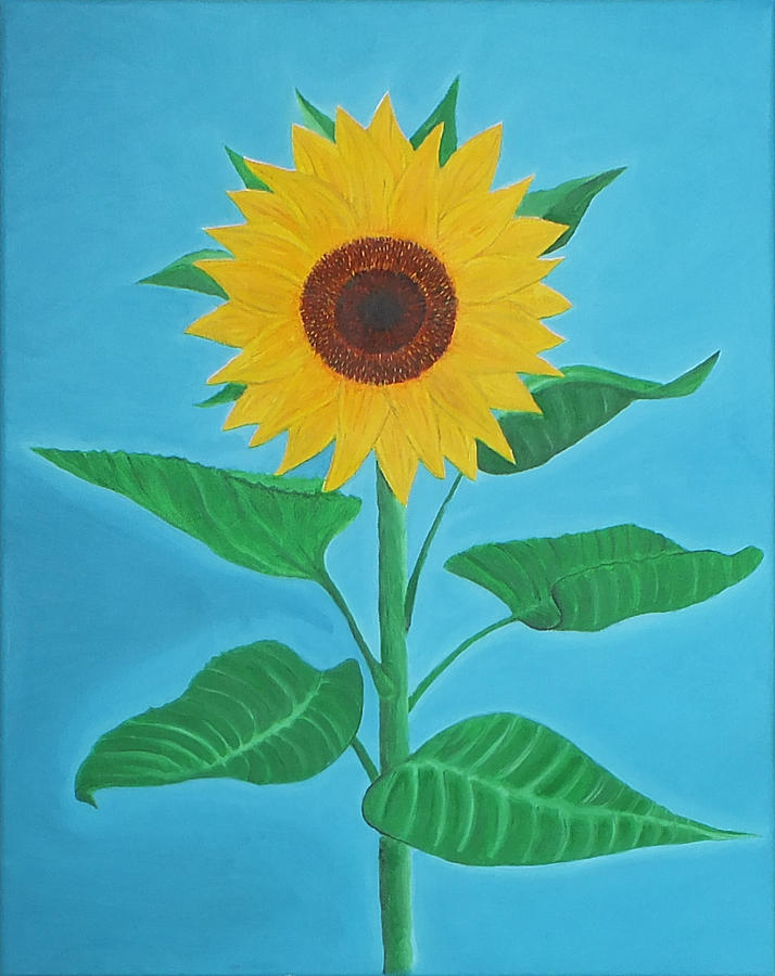 Sunflower Painting - Sunflower by Sven Fischer