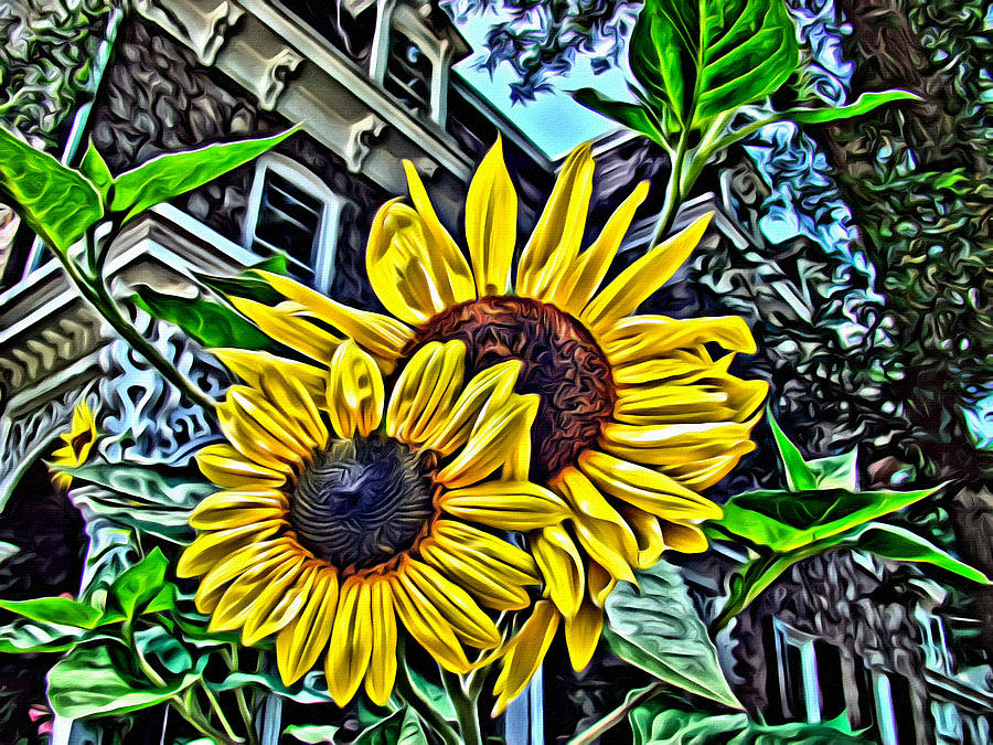 Sunflower Photograph - Sunflower Under The Gables Too by Alice Gipson