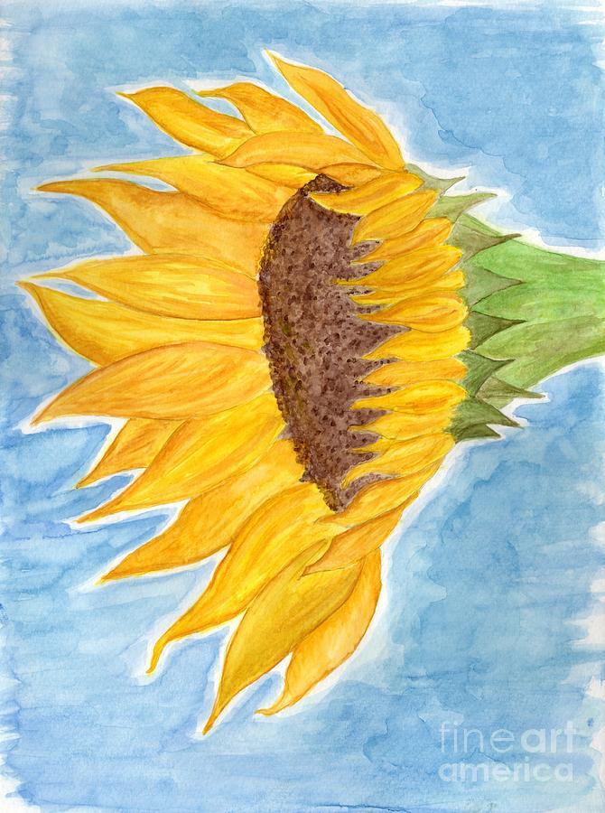 Sunflower Watercolor by Anne Clark