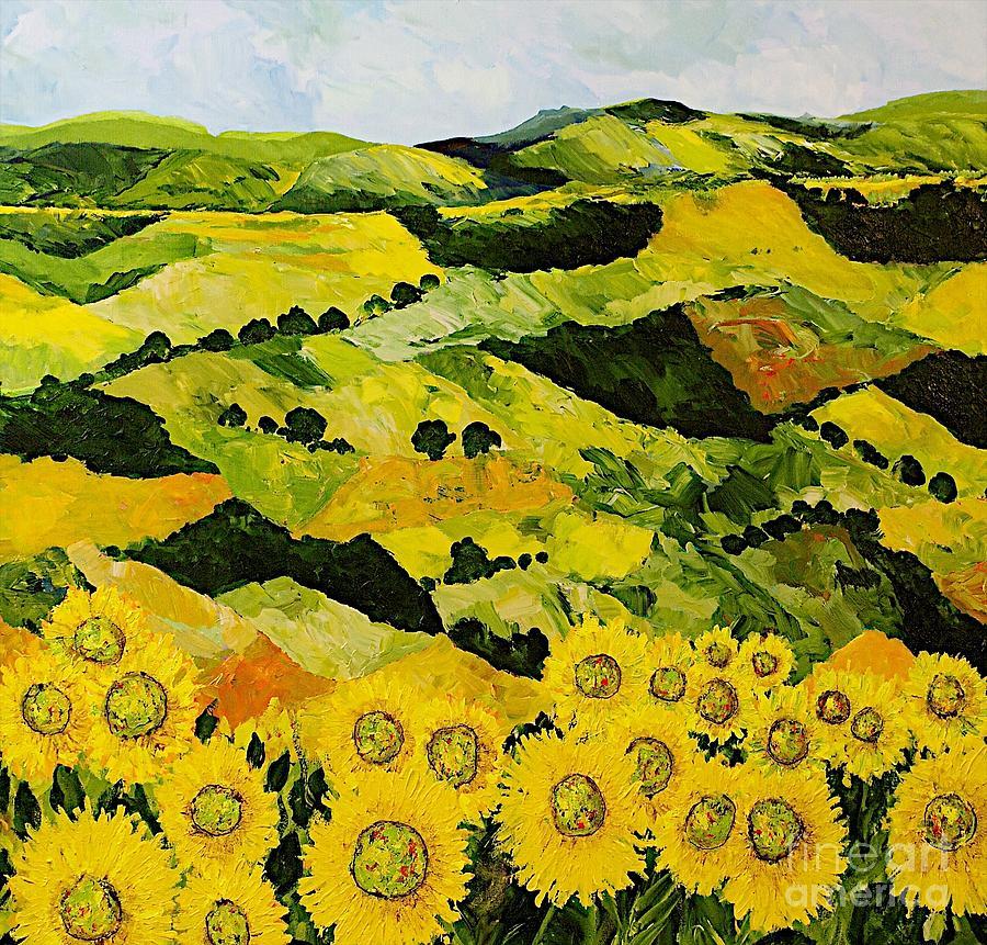 Sunflowers And Sunshine Painting