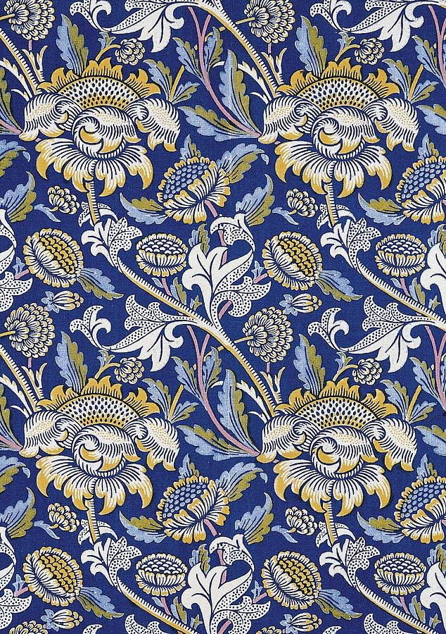 Sunflowers design digital art by william morris for Arts and crafts style prints
