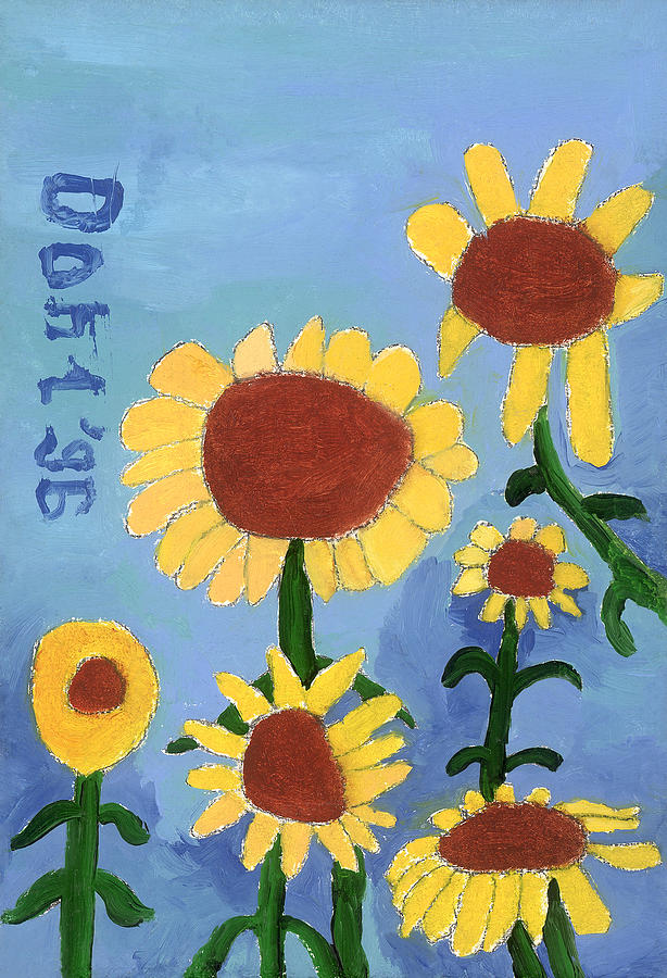Sunflowers Painting by Don Larison