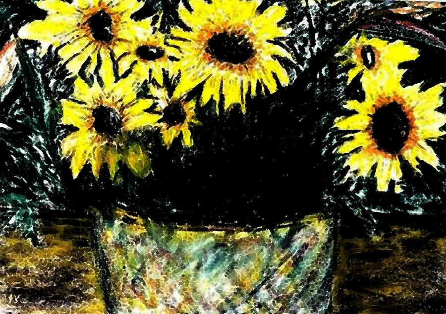 Sunflowers by George Gadson