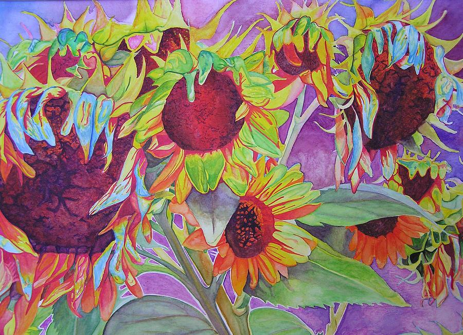 Flowers Painting - Sunflowers by Joshua Morton