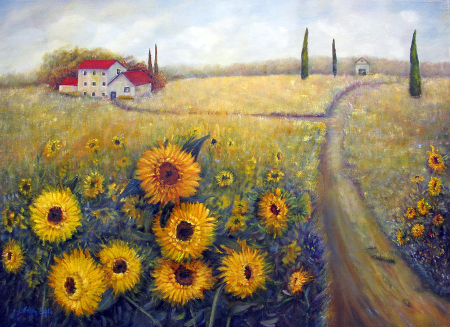 Loretta Luglio Painting - Sunflowers by Loretta Luglio