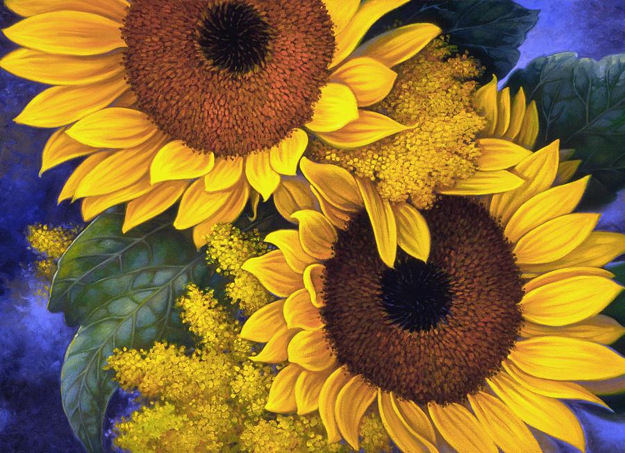 Botanical Painting - Sunflowers by Mia Tavonatti