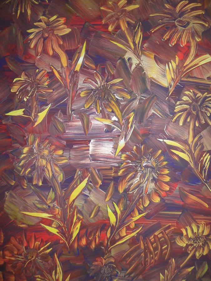 Nico Painting - Sunflowers by Nico Bielow