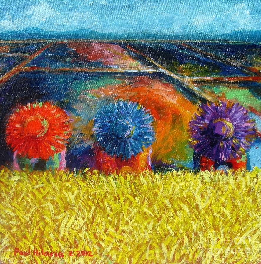 Paul Hilario Painting - Sunflowers by Paul Hilario