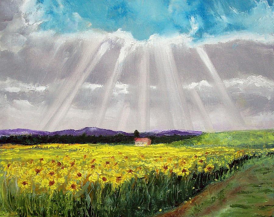 Sunflowers Painting - Sunflowers by Robert Gross