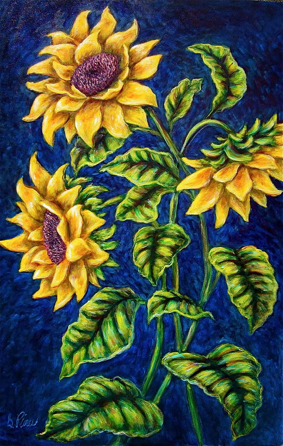 Sunflowers Painting - Sunflowers by Sebastian Pierre