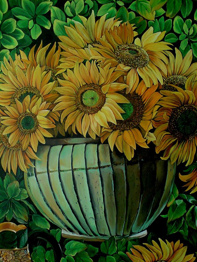 Flowers Painting - Sunflowers by Sonia P