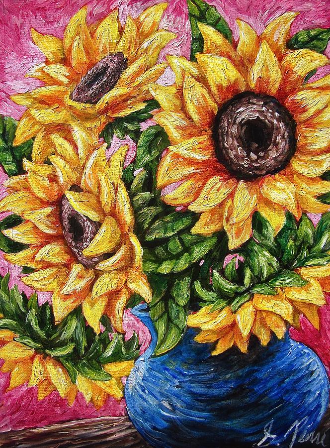 Sunflowers Painting - Sunflowery Day by Sebastian Pierre