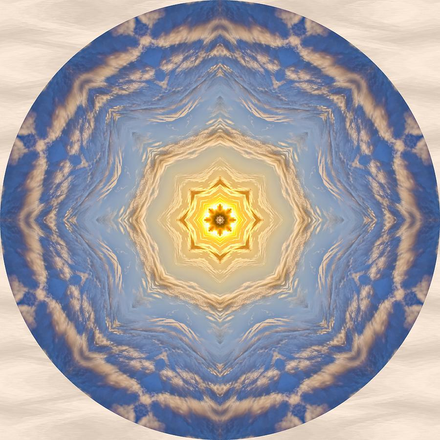 Mandala Photograph - Sunlight Cloud Waves Mandala by Beth Sawickie