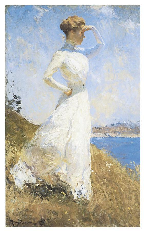 Frank Benson Painting - Sunlight by Frank Benson