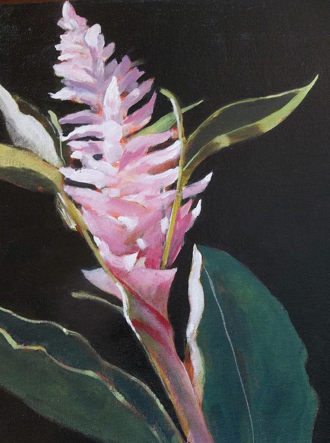 Pink Blossom Painting - Sunlight Ginger Blosom by Walt Maes