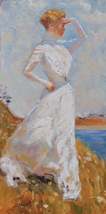 American Impressionist Painting - Sunlight by Laura Lee Zanghetti
