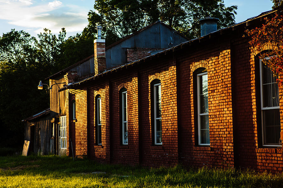 Architectural Photograph - Sunlight On Old Brick Building - Ellensburg - Washington by Steve G Bisig