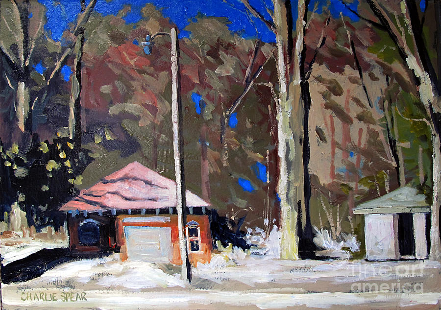 Golf Course Painting - Sunlight On The Golf Sheds Series No.6 by Charlie Spear