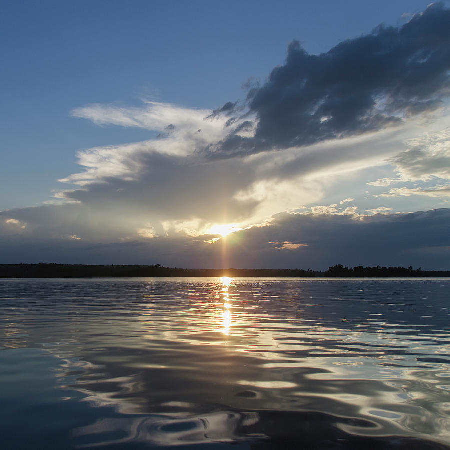 Sunlight Reflecting On Lake Water At Photograph by Keith Levit / Design Pics