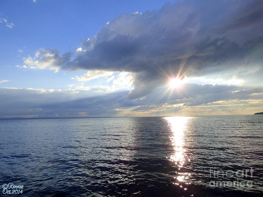 Lake Photograph - Sunlight Reflections by Rennae Christman