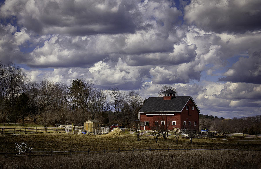 Barns Photograph - Sunlit Farm by Betty Denise