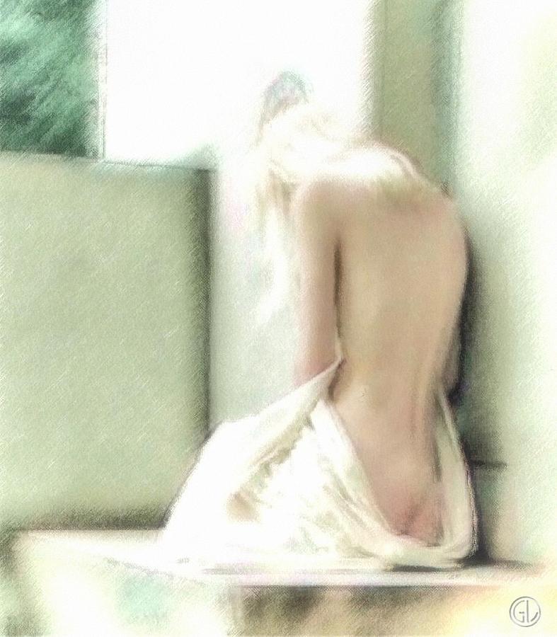 Girl Digital Art - Sunlit by Gun Legler