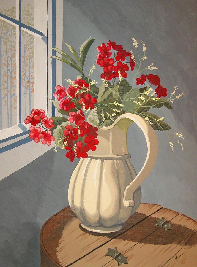 Geraniums Painting - Sunlit I by Jennifer  Donald