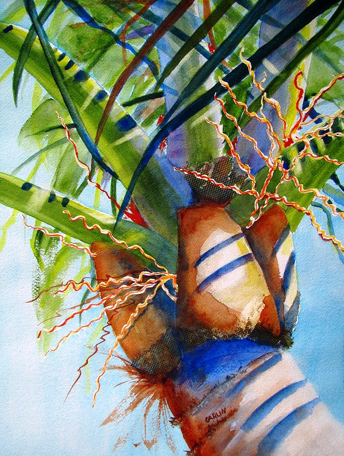 Palm Tree Painting - Sunlit Palm by Carlin Blahnik CarlinArtWatercolor