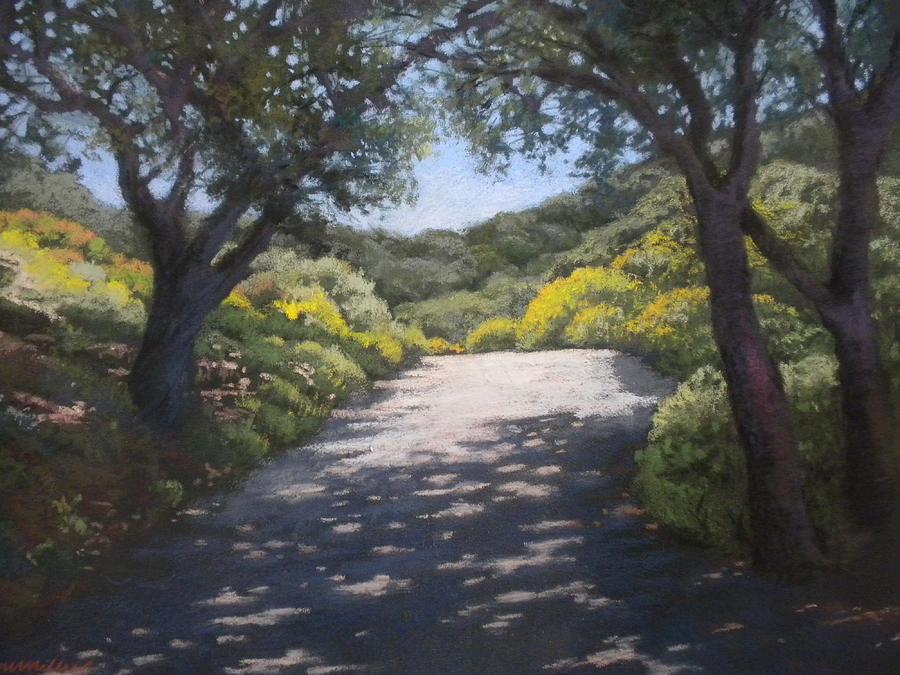 Landscape Painting - Sunlit Road by Maralyn Miller