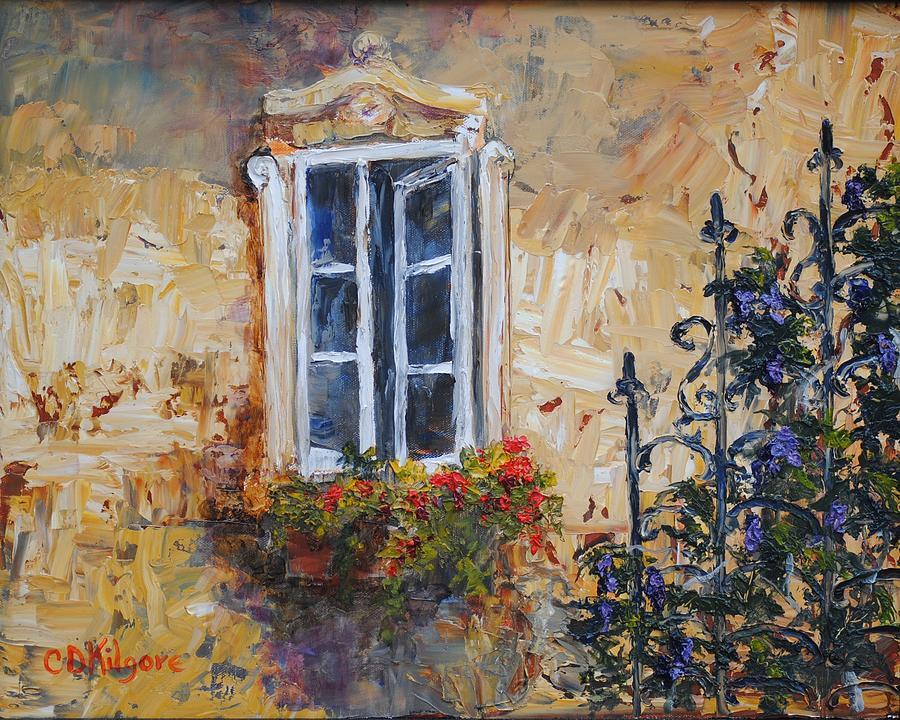 Window Painting - Sunlit Window by Dianna Kilgore