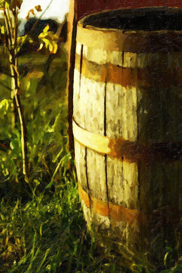 Landscape Photography Photograph - Sunlit Wooden Barrel-three by David Allen Pierson