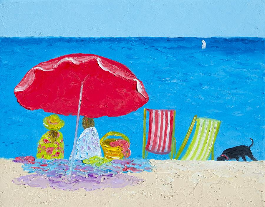 Beach Painting - Sunny Afternoon At The Beach by Jan Matson