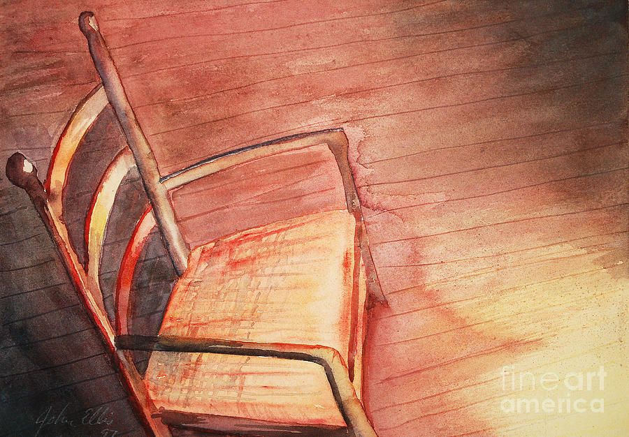 Chair Painting   Sunny And Chair By Flamingo Graphix John Ellis