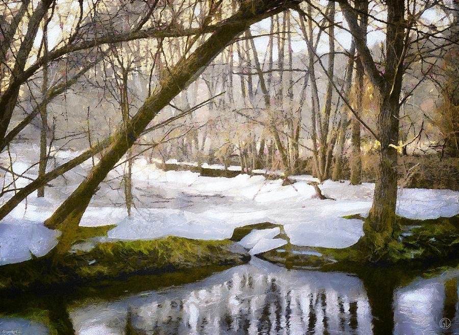 Nature Digital Art - Sunny But So Cold by Gun Legler