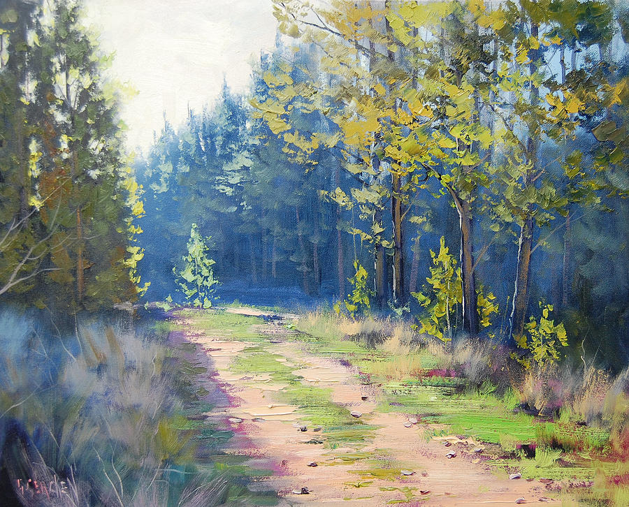 Sunny Corner Pine Forest Painting