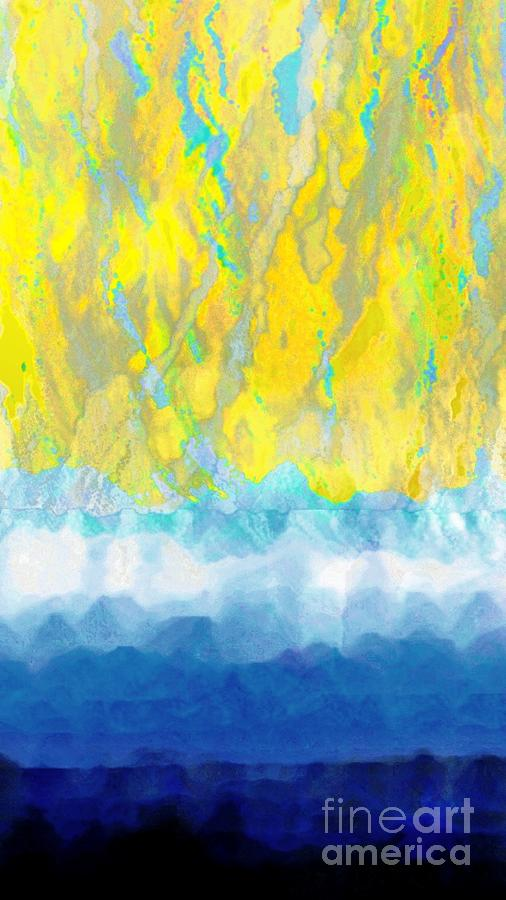 Abstract Digital Art - Sunny Day Waters by Darla Wood