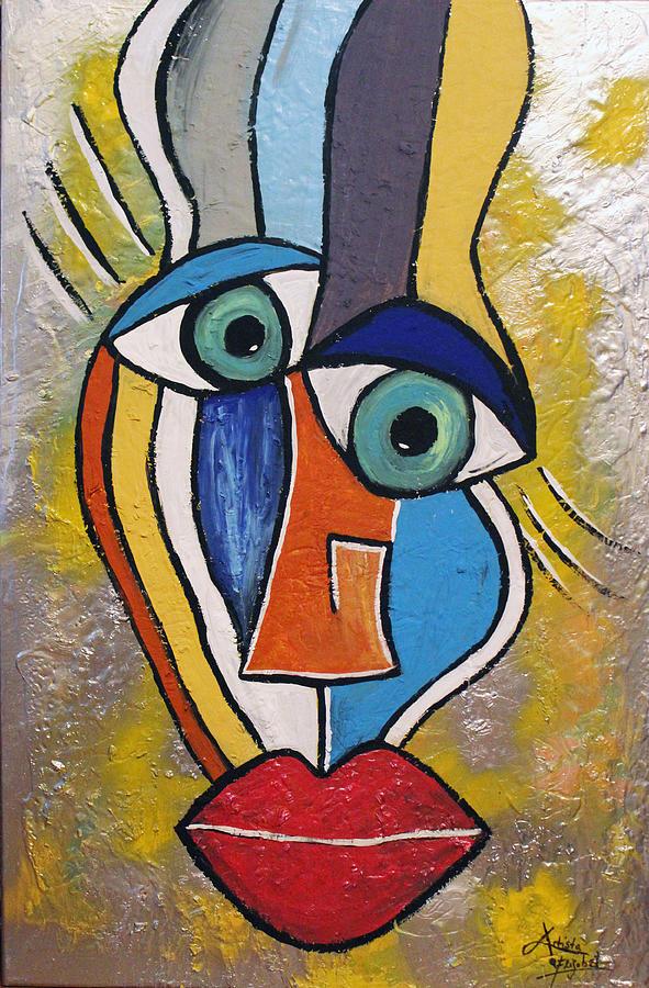 Face Mixed Media - Sunny Face by Artista Elisabet