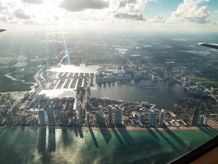Sunny Isles Beach Aerial Shadows Florida Photograph by Stickney Design