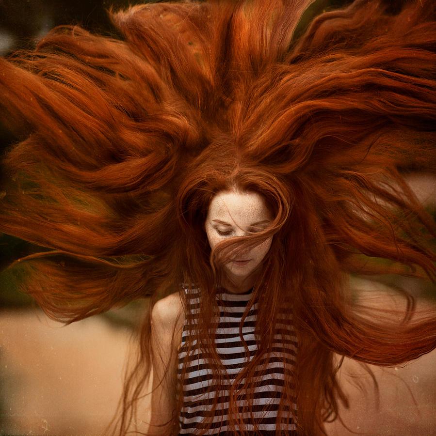 Redhead Photograph - sunny Katia by Anka Zhuravleva