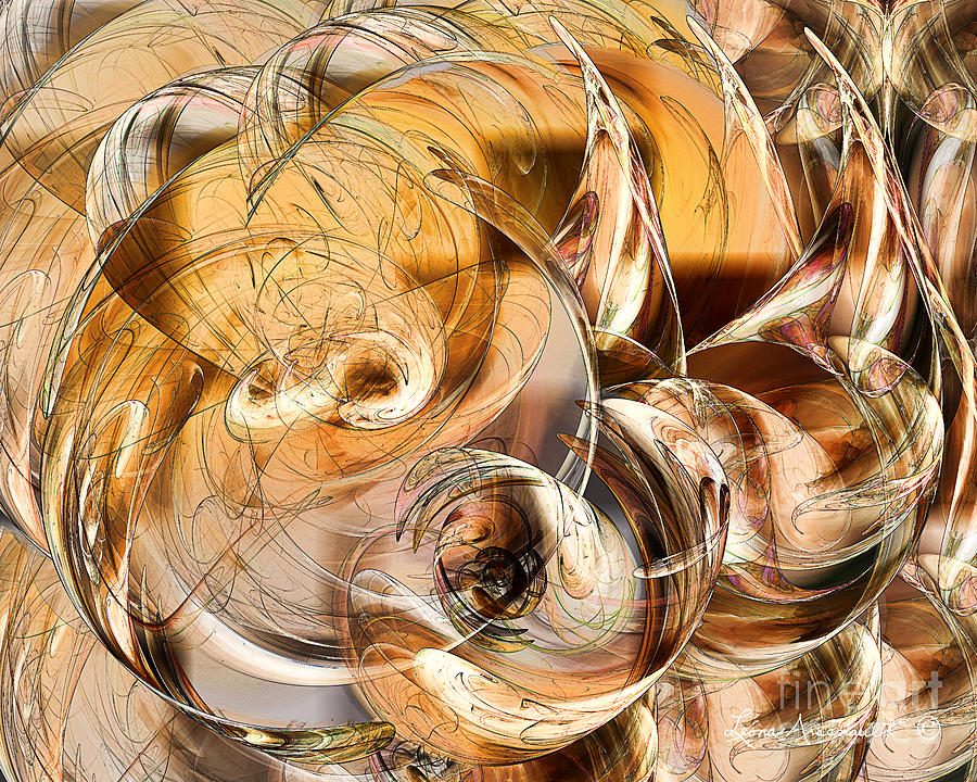 Abstract Digital Art - Sunny Luminance  by Leona Arsenault