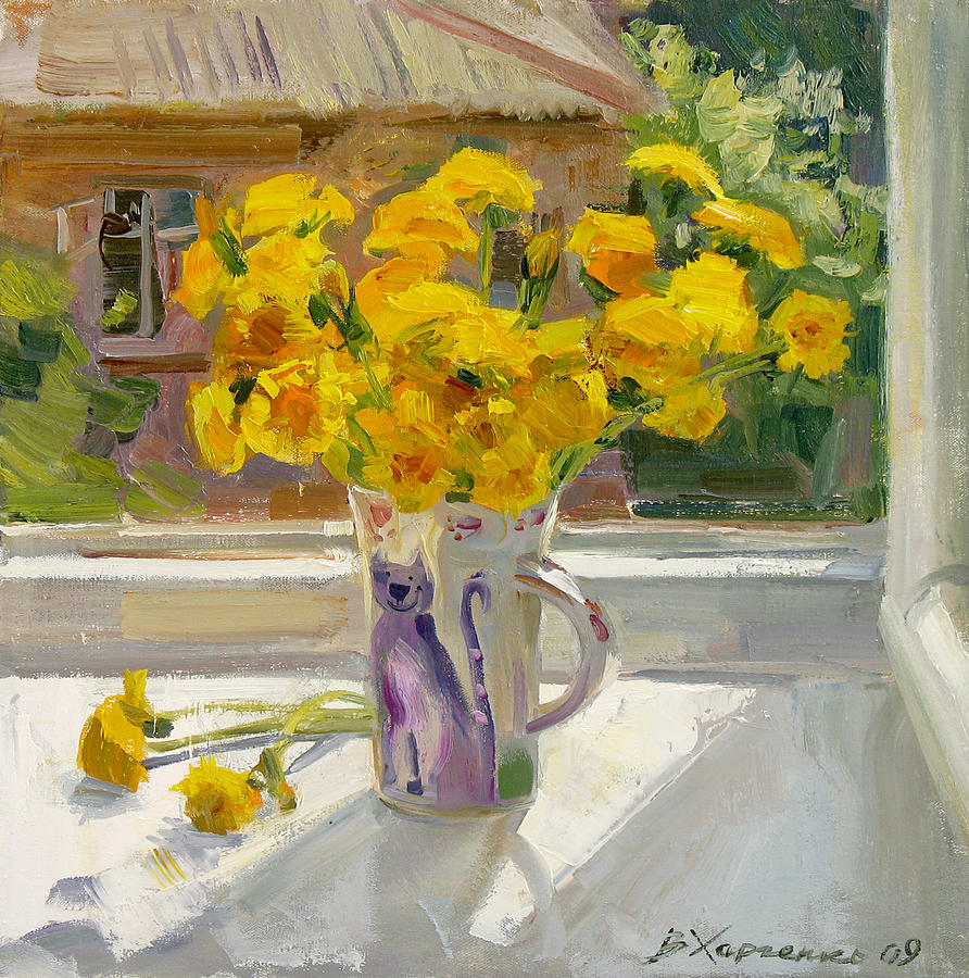 Flowers Painting - Sunny May by Victoria Kharchenko
