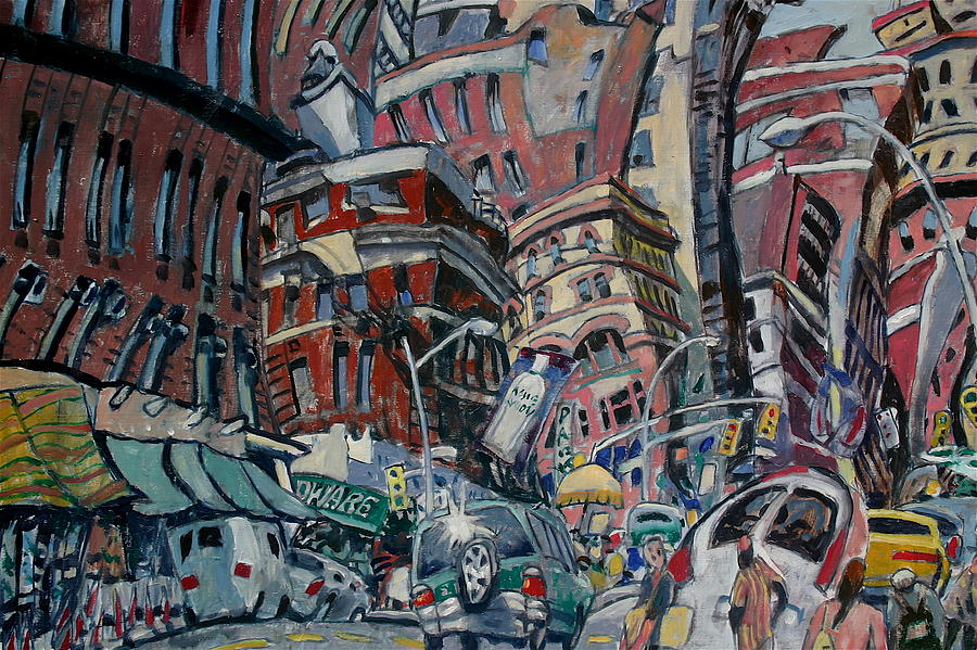 Sunny New York Painting by Joe Jaqua