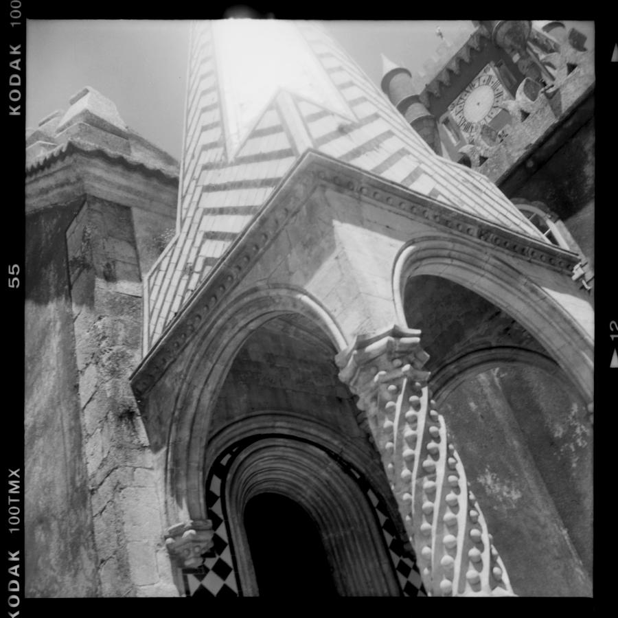 Black And White Photograph - Sunny Sintra Tiles by Becky Kozlen