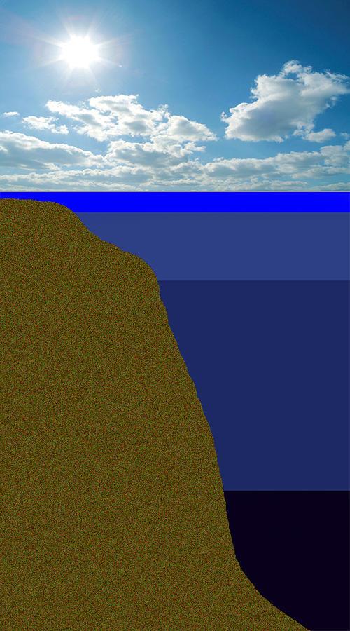 Sun Photograph - Sunny Sky Over Dead Oceans 2 by Bruce Iorio