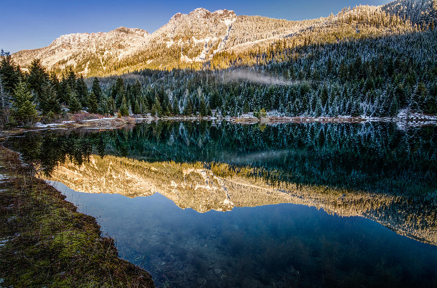 Cascade Mountains Photograph - Sunny Tops And Icy Skirts At Gold Creek Pond by Brian Xavier